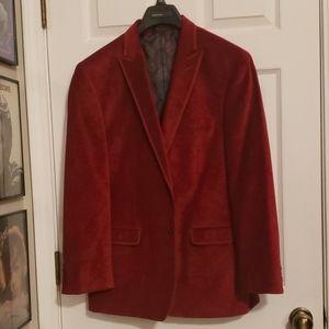Dark Red Ghost Paisley Velvet Blazer